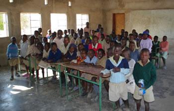 Eine Schulklasse in Burure